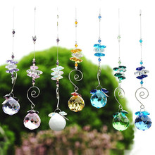 7pcs/lot 30mm Rainbow Window Suncather Chandelier Parts Lighting Ball Crystal Prisms Crafts Hanging Pendant Curtain Home Decor