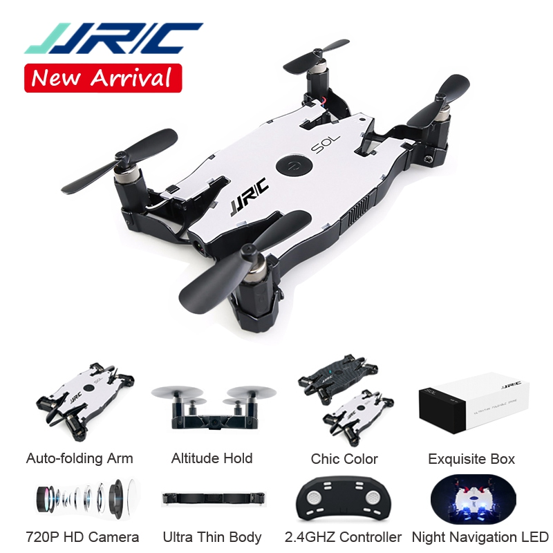 JJR/C JJRC H49 SOL Ultrathin Wifi FPV Selfie Drone 720P Camera Auto Foldable Arm Altitude Hold RC Quadcopter VS H37 H47 E57 in stock eachine e57 wifi fpv selfie drone with 720p camera auto foldable arm altitude hold rc quadcopter rtf vs jjrc h49 h37