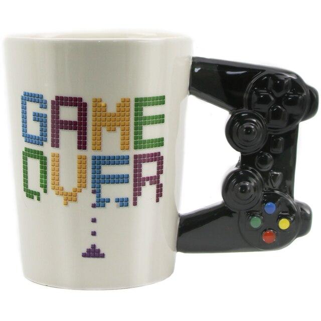 Игра над кофе кружка 3D игровой контроллер офисная кофейная керамическая чаша Nerd кружка Gameboy Gamer подарок