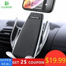 Floveme infrarouge tactile voiture Support pour téléphone sans fil de charge pour iPhone Samsung 360 Navigation Support socle voiture Support de voiture