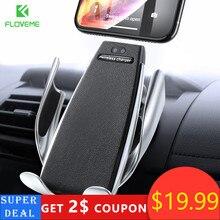 Автомобильный держатель для телефона Floveme, с инфракрасным сенсорным экраном, Беспроводная зарядка, для iPhone, Samsung, 360