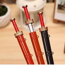 2pcs/lot Creative Stationery Sword Gel Pens Black 0.38mm School Office Supplies Chinese Style Vintage Weapons Writing Pen Gift цена