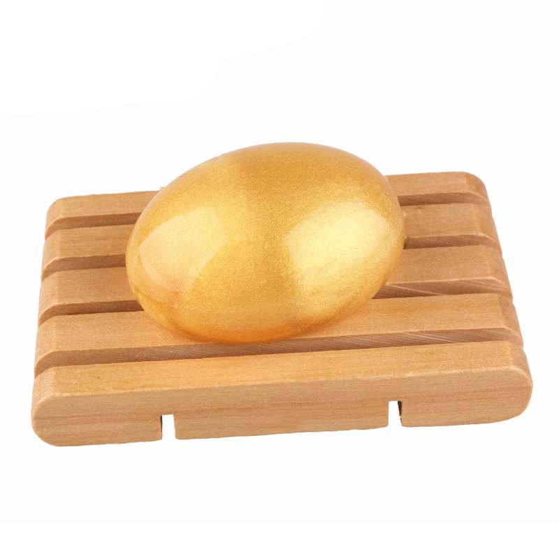 1pcs Gold Collagen Mask Soap Hand-made Handmade Essential Oil Soap Gentle Eggs Jelly Soap Makeup