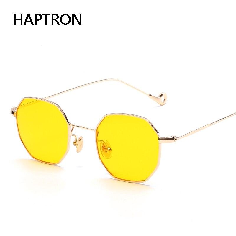 HAPTRON hohe qualität metall farbe sonnenbrille frauen mens gelb ...