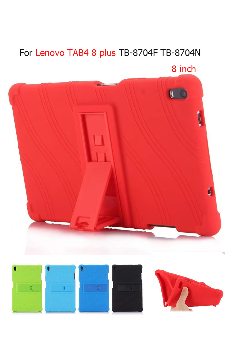 For Lenovo Tab 4 8 Plus TB-8704X Soft Silicone Back Cover for Lenovo TAB4 8 plus TB-8704F TB-8704N 8'' Tablet stand case Cover genuine leather case for lenovo tab 4 8 plus cover cowhide tab48plus protective protector tb 8704f tb 8704n l tablet cases 8 0