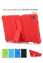 For Lenovo Tab 4 8 Plus TB-8704X Soft Silicone Back Cover for Lenovo TAB4 8 plus TB-8704F TB-8704N 8'' Tablet stand case Cover