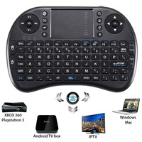 2.4 GHz Mini Draadloze Toetsenbord Afstandsbediening Touchpad QWERTY Fly Air Muis Voor Android TV Box voor Raspberry Pi Tablet PC