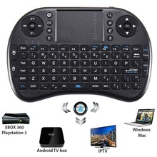 2.4GHz Mini Wireless Keyboard Backlit Remote Control Touchpad QWERTY Fly Air Mouse For Android TV Box for Raspberry Pi Tablet PC