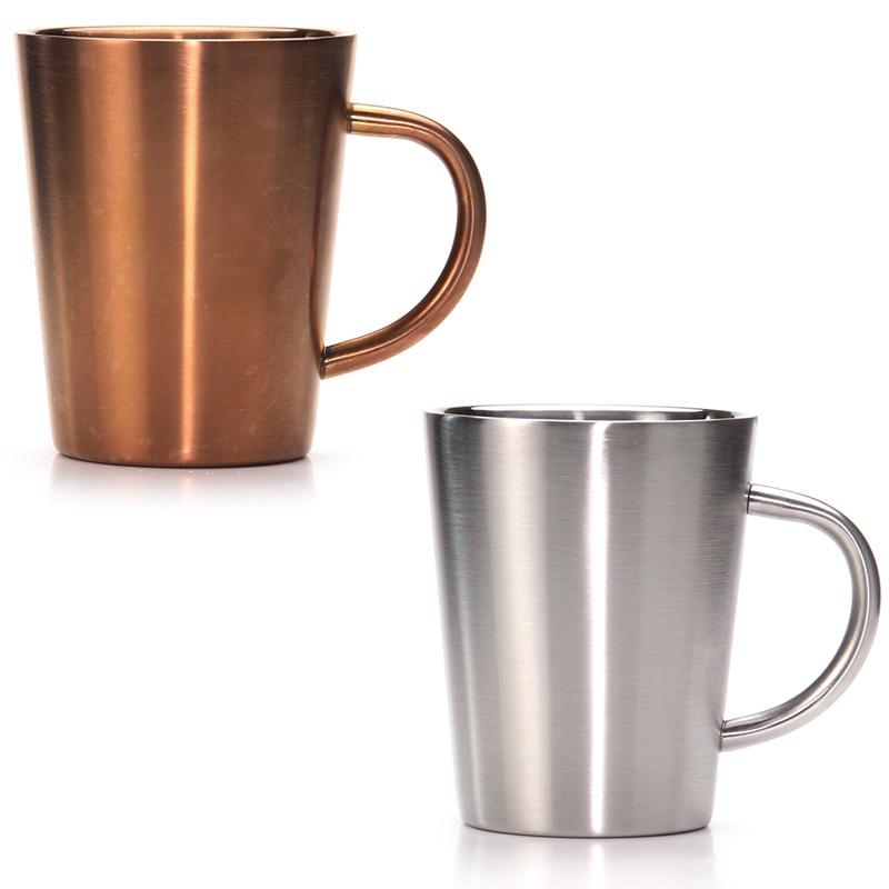 Bier Kaffee Tassen Tee Tassen Edelstahl-Doppelwandige Isolierte, Camping, RV, Büro Geschenk, set von 2, 350 ml