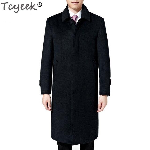 Aliexpress.com : Buy Tcyeek Winter Mens Long Coats 3XL Men's ...