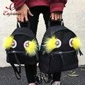 Personalidade da moda de boa qualidade nylon rebites faux fur senhoras moda casual escola mochila meninas bolsa feminina bolsa com zíper laptop