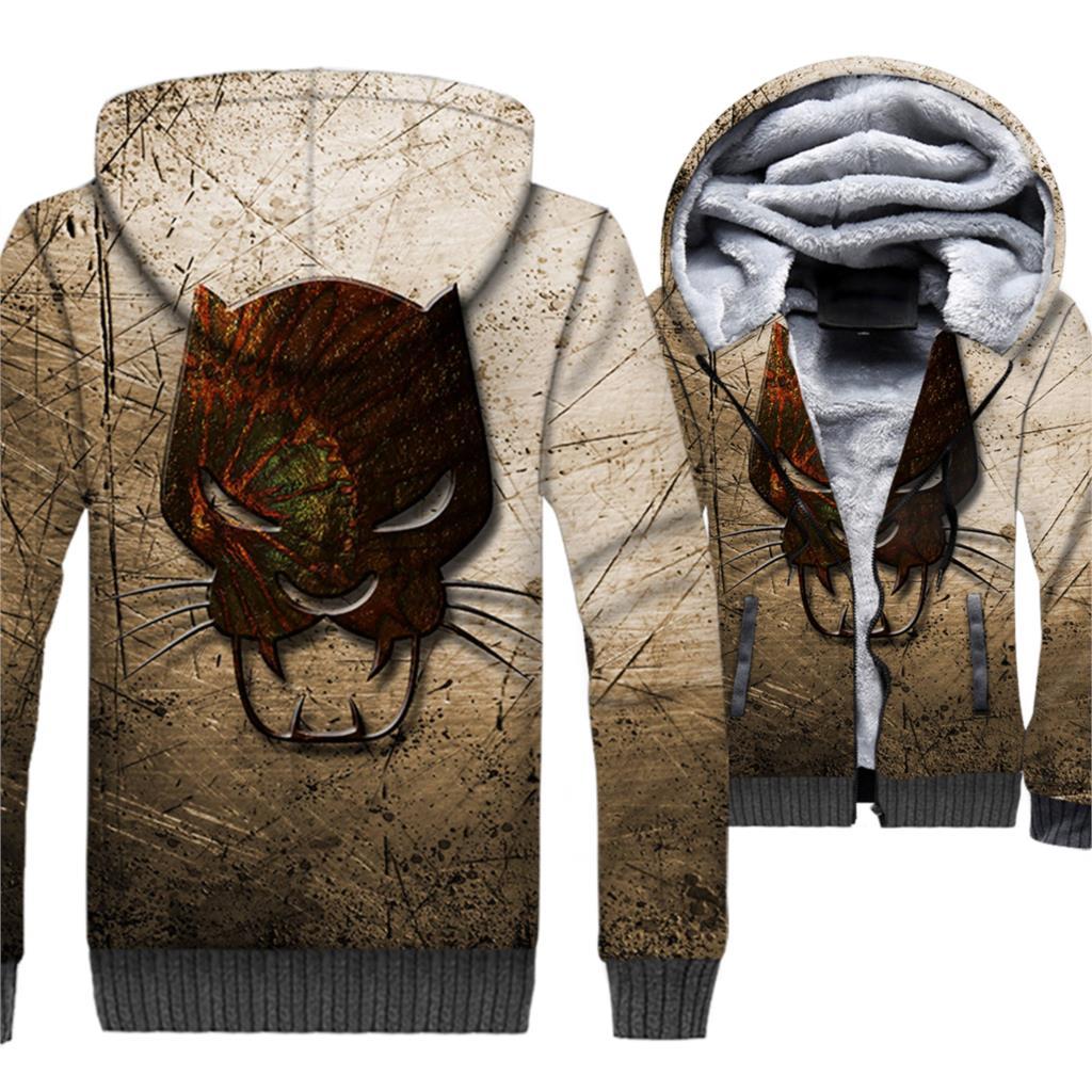 Black Panther Jacket 3D Movie Hoodie Men Wakanda Hooded Sweatshirt Winter Thick Fleece Warm Super Hero Coat Cool Brand Clothing