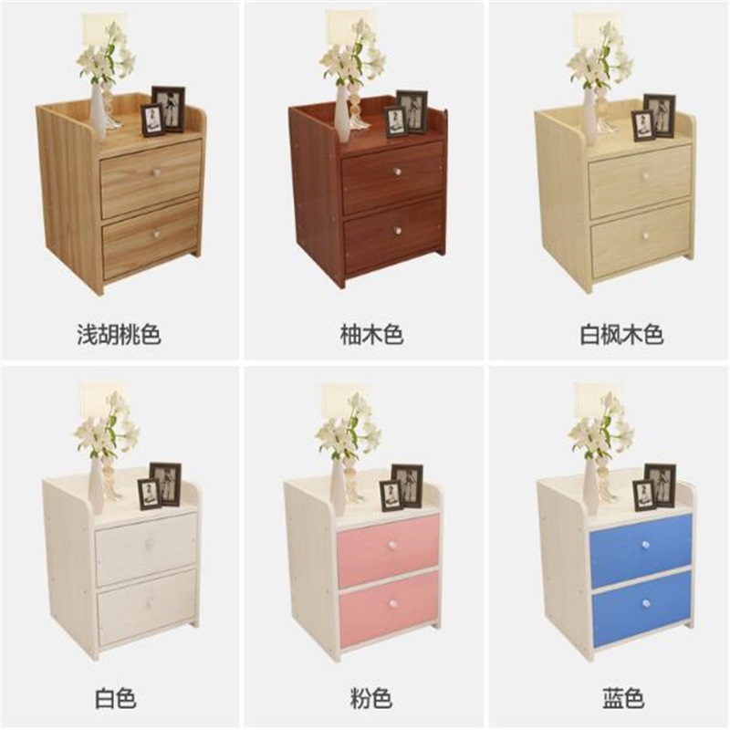34*36.5*45CM Solid Wood Bedside Table Folding Bedroom Storage Cabinet Modern Bedside Cabinet Nightstand