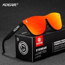 KDEAM Soft Comfort TR90 Men Sunglasses Driving Broad-Frame Sun Glasses