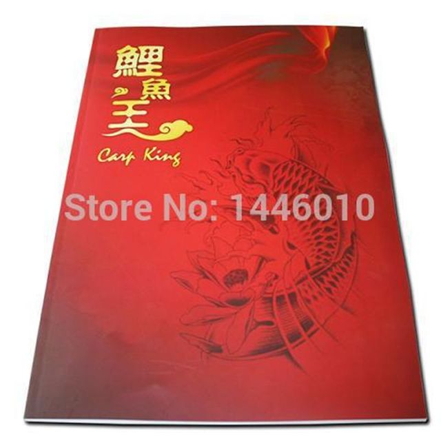 Crazy Tattoo Traditional Chinese KOI Newest Professional King Of KOI Tattoo Flash Magazine Art Manuscript Book Free Shipping