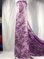 2019 Latest purple French Laces Fabrics High Quality Tulle African Laces Fabric For Wedding Nigerian Tulle Lace Material ju7 23