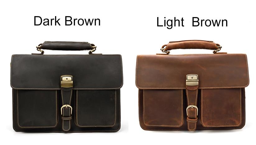HTB1vVBzQPTpK1RjSZKPq6y3UpXaI MAHEU Luxury Fashion 100% Genuine Leather Men Briefcase Cow Leather Laptop Bag Vintage Shoulder Bag Real Cowhide Computer Bag