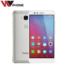 "WV Original HuaWei Honor 5X 4G LTE Mobile Phone MSM8939 5.5"" FHD 1080P 2GB RAM 16G Rom 13.0MP Fingerprint Smartphone"