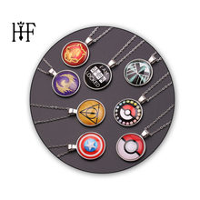 Avengers Necklace Accessories i am sher locked Captain America Horcrux Pokemon Choker Necklace Women Kolye(China)