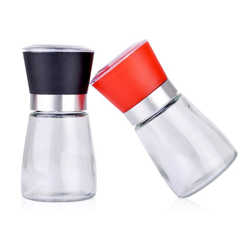 2X Manual Salt Pepper Grinder Spice Herb Glass Muller Hand Mill Grinding Bottle