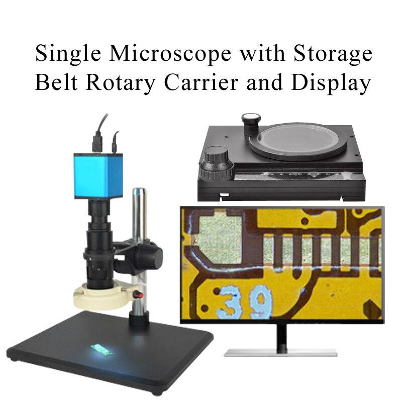 Автоматический Фокусировочный микроскоп Высокое Разрешение HDMI высокоскоростное электронное видео измерение для 14 миллионов промышленных электронных - Цвет: Зеленый