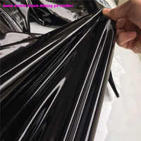 Nice Black Shining Mirror PU Leather Fabric Stretch PU Artificial Leather Sewing Material for Sexy Pants DIY Bodysuits Clothing