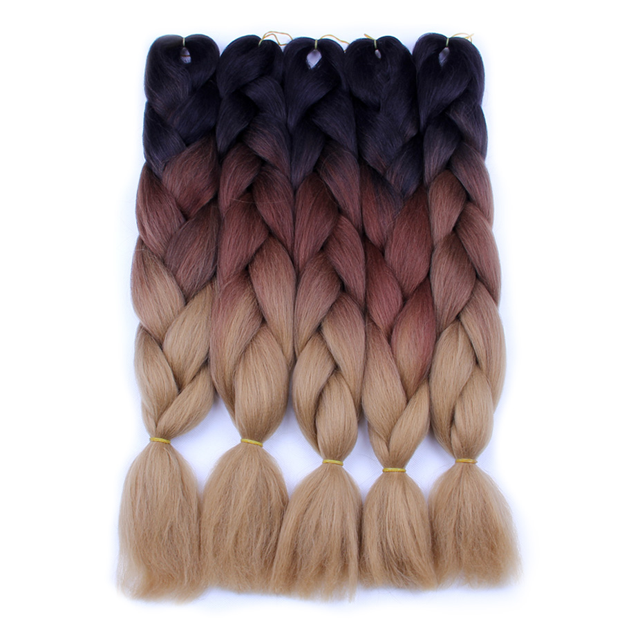 Hair Braids Diplomatic Falemei Ombre Braiding Hair For Crochet Twist Braid 24inch100/pcs High Temperature Wire Synthetic Two Tone Afro Jumbo Braid Hair