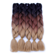 FALEMEI Ombre Braiding Hair For Crochet Twist Braid 24inch100 / pcs Högtemperatur tråd syntetisk Två Tone Afro Jumbo Braid Hair
