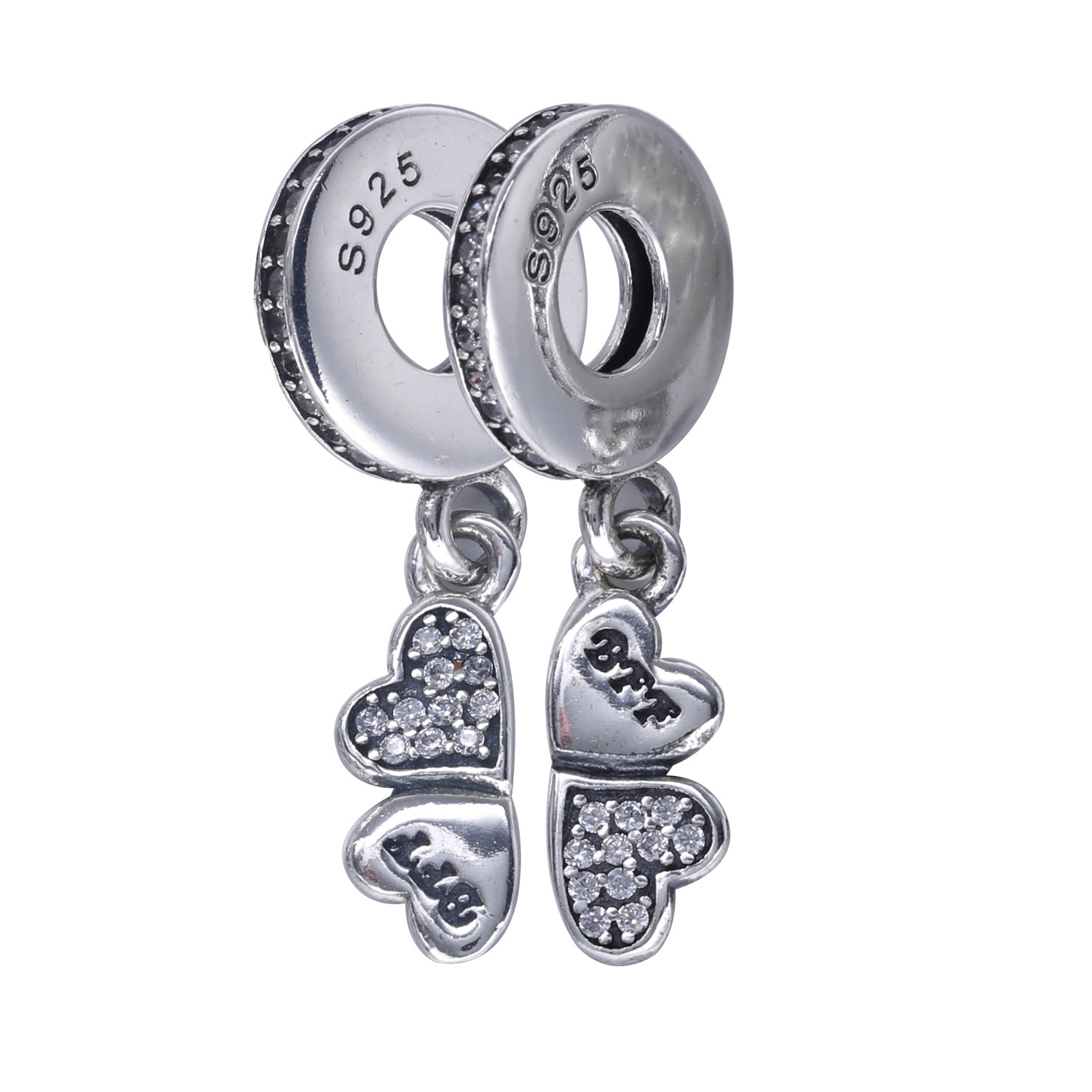 Arrival 925 Sterling Silver Friends Charm