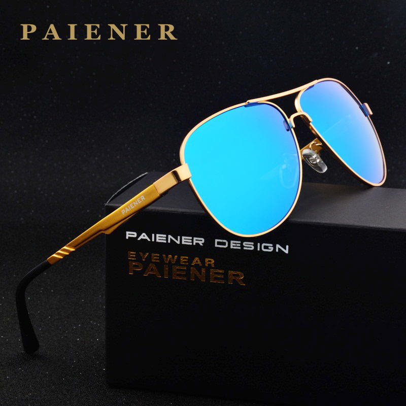 New Brand Aluminum Men's women Polarized Sunglasses Driving Coating Lens Sun Glasses for Male Eyewear oculos de sol with box