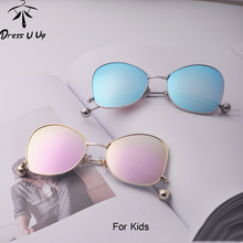 DRESSUUP 2017 Cute Cat Eye Enfant Kids Sunglasses Brand Designer Beads Children Boys Girls Sun Glasses Oculos De Sol Gafas