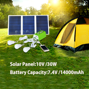 Xionel High Power Solar Panel Solar Home System Mobile Charger + Solar Light for Home/Camping / Emergency Light