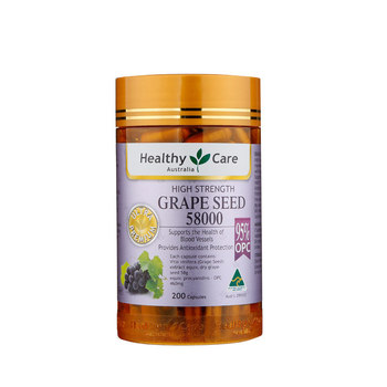 Healthy Care Grape Seed Extract 58000 200Caps Women Beauty Skin Care Capillaries Health Antioxidant Against free radical damage 1