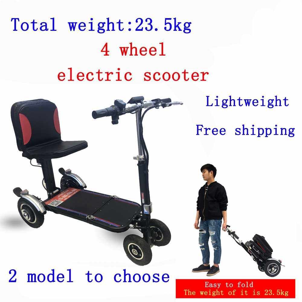 Fashion folding four-wheel electric vehicle disabled small electric wheelchair elderly electric scooter wheelchair