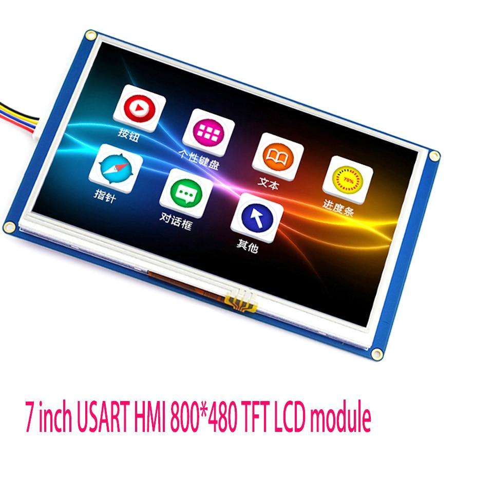 7 inch USART HMI 800*480 TFT LCD module with GPU font serial port