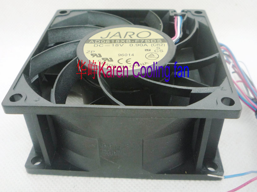 ADDA 8CM AD0818XB-F7BDS 8038 18V 0.9A 4wire Cooling fan