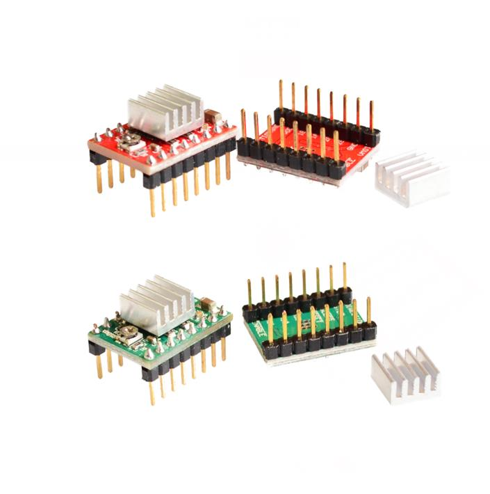 5pcs/lot Reprap Stepper Driver A4988 Stepper Motor-Driver Module free shipping free shipping 10pcs lot heat sink for a4988 a4983 stepper driver