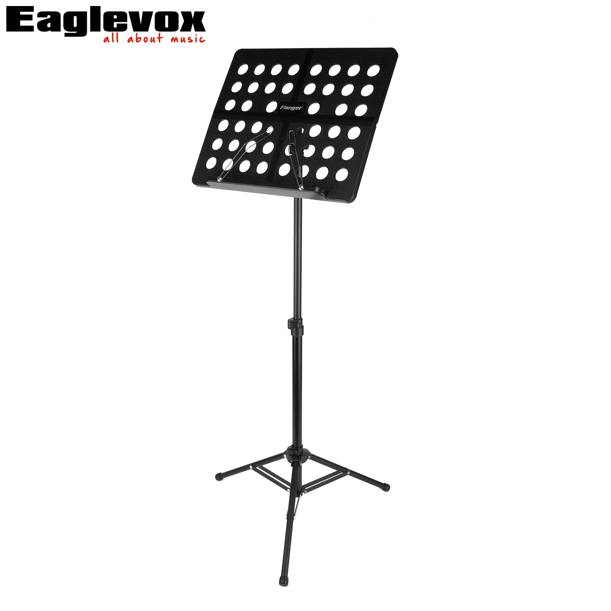 Folding Adjustable Black Music Stand for Sheet Music Portable Metal Holder 70-145 cm Adjustable Height with Carrying Pad Bag colourful sheet folding music stand metal tripod stand holder with soft case with carrying bag free shipping wholesales