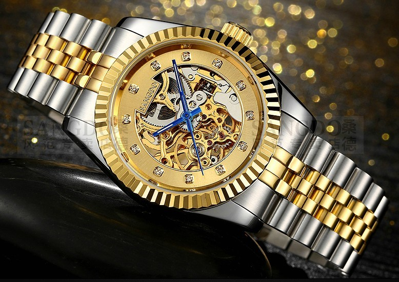 37.5mm Sangdo Luxury watches Automatic Self-Wind movement Sapphire Crystal Mechanical Wristwatches Men's watch R60 original binger mans automatic mechanical wrist watch date display watch self wind steel with gold wheel watches new luxury
