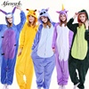 Halloween Sleepwear Stitch Unicorn Dinosaur Giraffe Panda Pegasus Women Clothes Pajamas Set Unisex Long Sleeve Cartoon