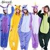 Halloween Sleepwear Stitch Unicorn Dinosaur Giraffe Panda Pegasus Women Clothes Pajamas Set Unisex Long Sleeve Cartoon