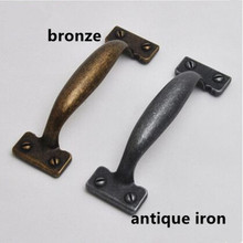 110mm vintage style furniture decoration handles antique iron kitchen cabinet drawer pulls knob bronze dresser door handles 4.3″