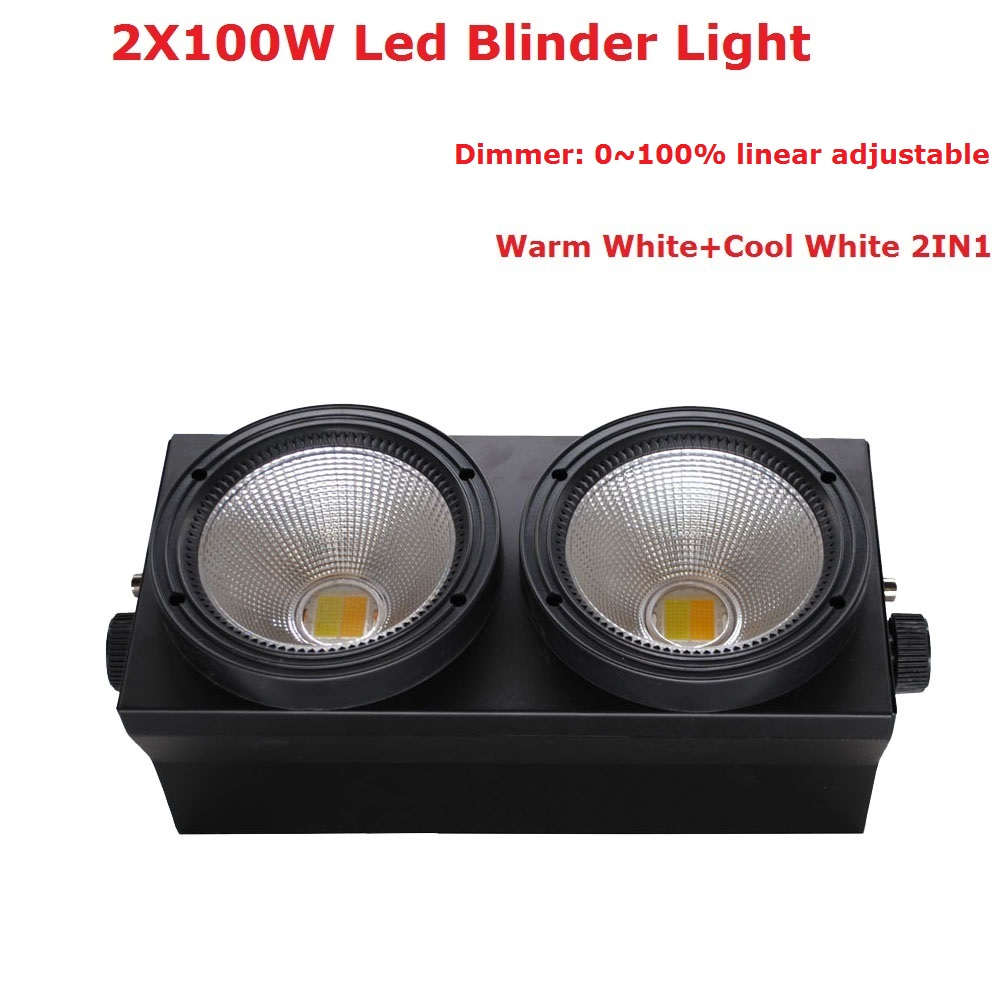 China Factory Directly Sales 2 Eyes Led Audience Light COB Power Warm White + Cool White 2IN1 LED Led Blinder Light 90V-245V audience powerchord schuko 2 m