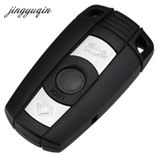 Jingyuqin 5 шт. удаленный ключевой Чехол для BMW X5 X6 E93 E90 E92 для серии 3/5 Smart Key fob В виде ракушки без логотипа