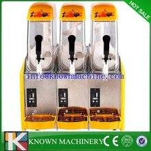 Free DHL 1pc 110V/220V Snow Melting machine/Three Tank Slush Machine/Cold Drink Maker/Smoothies Granita Machine/Sand ice machine