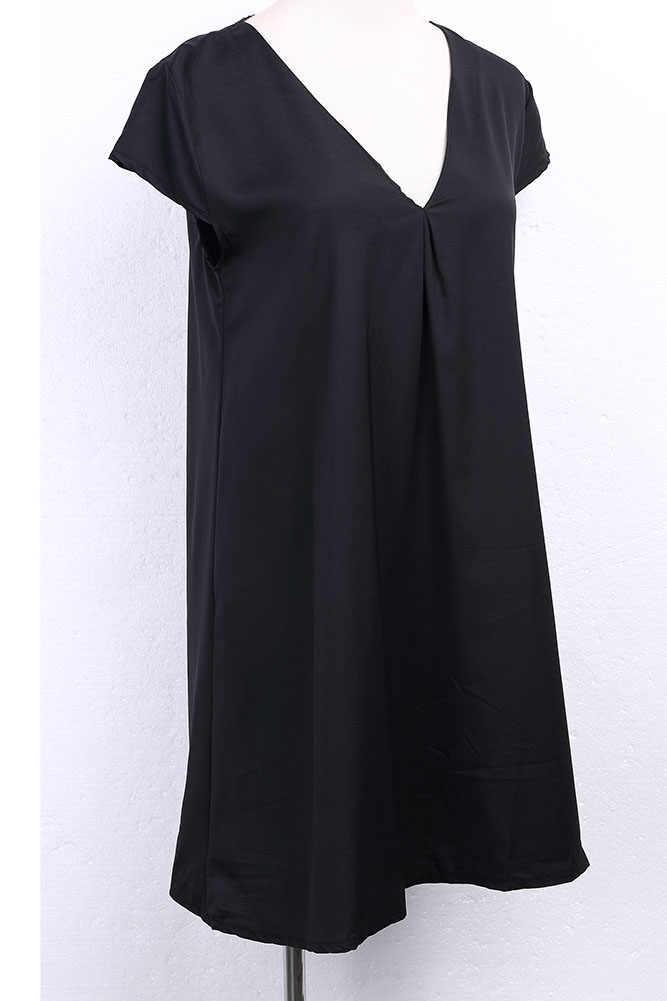 2019 מכירה לוהטת נשים קיץ Boho קצר מיני שמלת גבירותיי V צוואר ערב מסיבת חוף שמלות קיצית Pluse גודל S-XXXL
