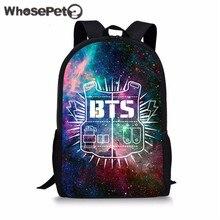 WHOSEPET Galaxy BTS печатная школьная сумка Детские сумки основной рюкзак для девочек мальчиков обратно в школу рюкзак ортопедическая школьная сумка