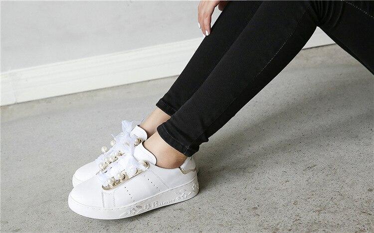 Silk Riband Pérola Sapatos Oxford Mulheres Mocassins