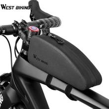 WEST BIKING Bicycle Bag Waterproof MTB Road Bike Panniers Front Frame Basket Cycling Accessories Handlebar Triangle Bags