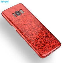 KEYSION Case for Samsung Galaxy S8 S8 Plus Fashion crack hard Plastic protection Back Cover for Samsung S8 S8+ G950 G955 Shell